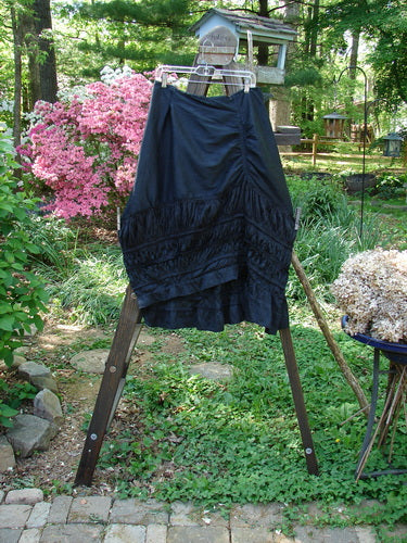 Vintage Blue Fish Clothing Magnolia Pearl Silk Sunrise Skirt Black OS- Bluefishfinder.com