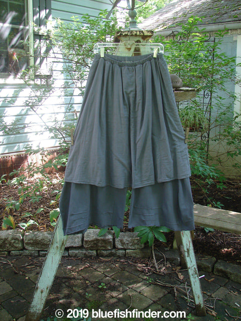 Vintage Blue Fish Clothing Barclay Two Tier Pinch Crop Pant Skirt Light Navy Size 1- Bluefishfinder.com