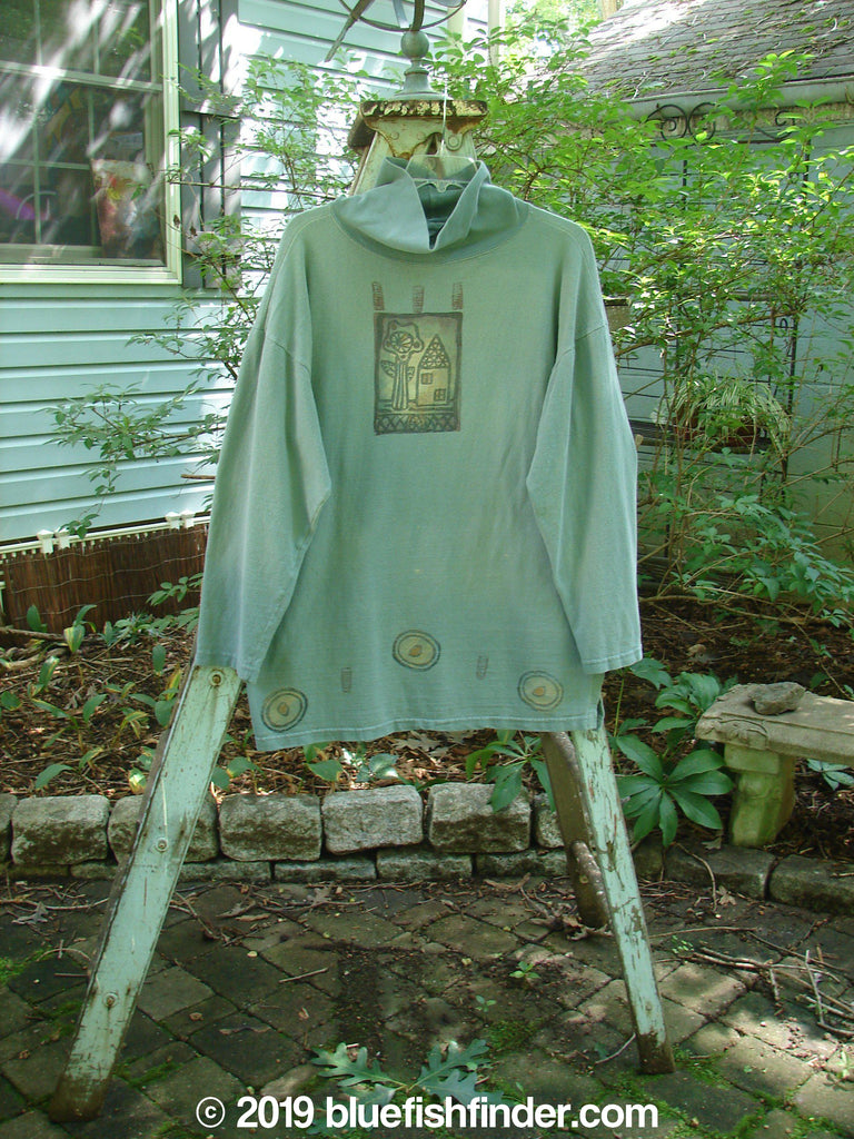 Vintage Blue Fish Clothing 1995 Workshop Top Home Patina Size 1- Bluefishfinder.com