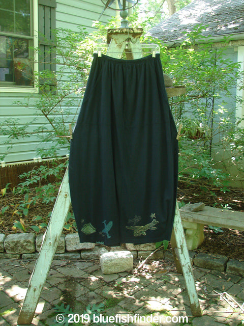 Vintage Blue Fish Clothing 1993 Resort Bell Skirt Airplane Travel Black Size 2- Bluefishfinder.com