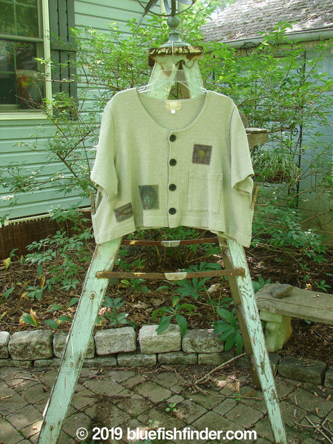 Vintage Blue Fish Clothing 2000 Patched Recycle Jacket Khaki Size 1- Bluefishfinder.com