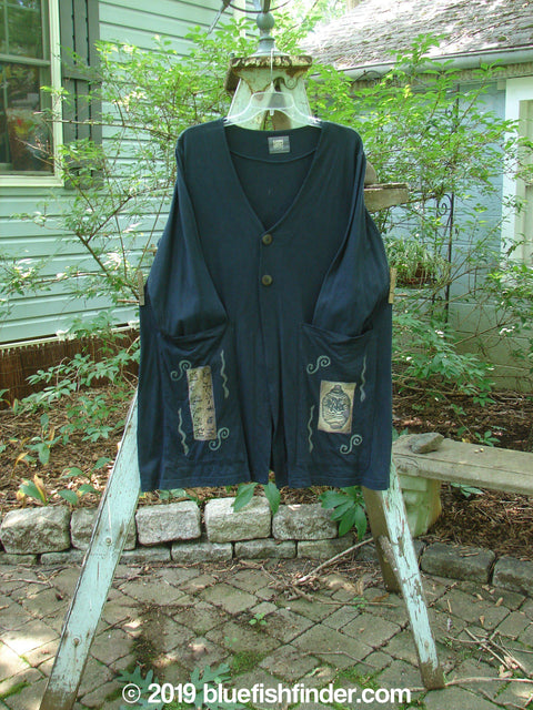 Vintage Blue Fish Clothing 1999 Triangle Jacket Metallic Ginger Jar Black Size 0- Bluefishfinder.com