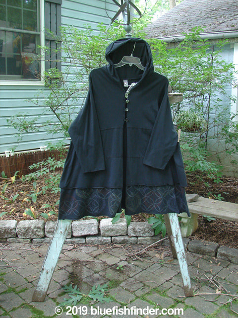 Vintage Blue Fish Clothing Barclay NWT Tiered Hoodie Jacket Circle Diamond Black Size 1- Bluefishfinder.com