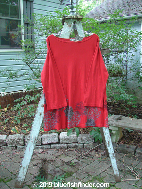 Vintage Blue Fish Clothing Barclay NWT Reverie Top Chrysanthemum Ruby Size 1- Bluefishfinder.com