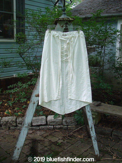 Vintage Blue Fish Clothing Barclay Lace Up Layering Skirt White Size 1- Bluefishfinder.com