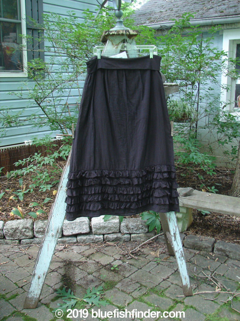 Vintage Blue Fish Clothing Barclay NWT Fold Over Ruffly Skirt Black Size 1- Bluefishfinder.com