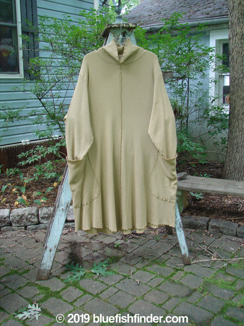 Vintage Blue Fish Clothing Barclay Thermal Drop Pocket Curl Tunic Dress Mustard Size 2- Bluefishfinder.com