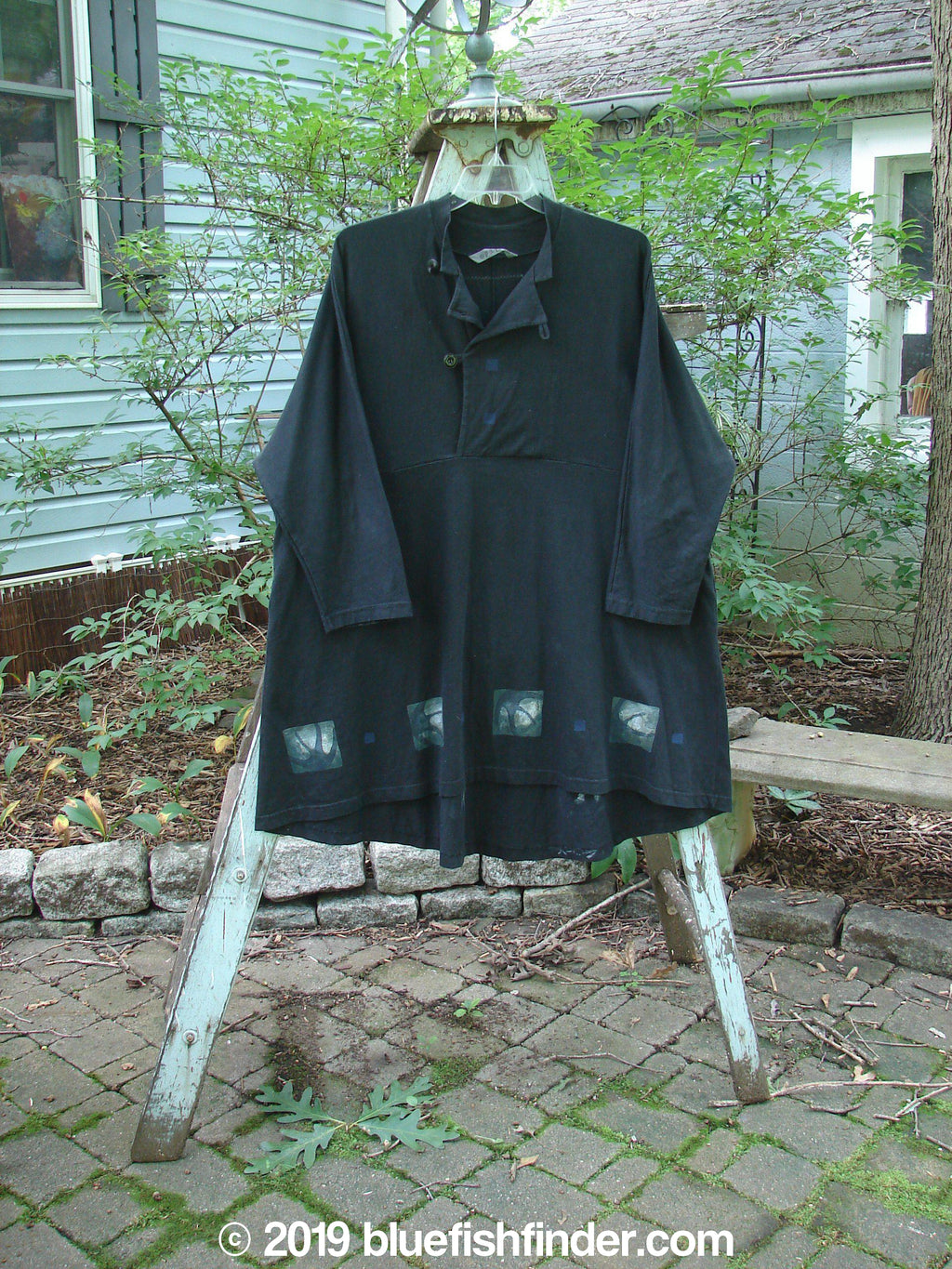 Vintage Blue Fish Clothing 1997 Rhadha Dress Abstract Obsidian Black Size 2- Bluefishfinder.com
