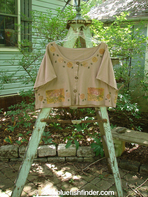 Vintage Blue Fish Clothing 1993 Travel Top Lilly Pads Dried Rose Size 2- Bluefishfinder.com