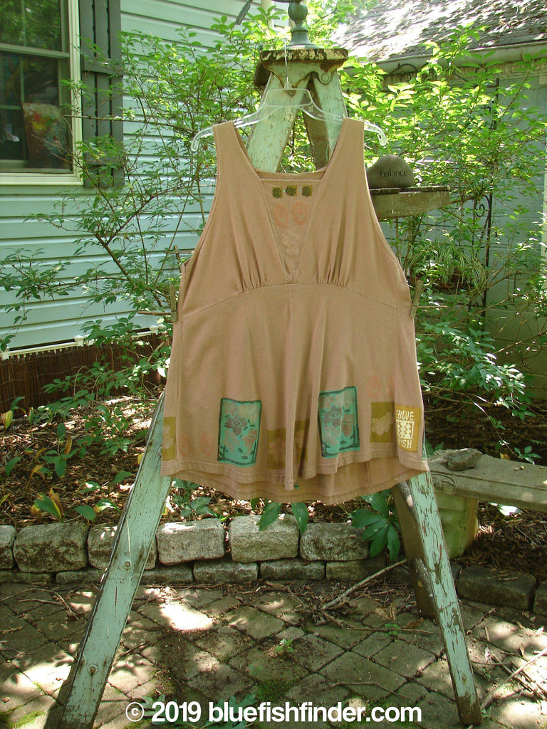 Vintage Blue Fish Clothing 1993 Cha Cha Jumper Dried Rose Altered OSFA- Bluefishfinder.com