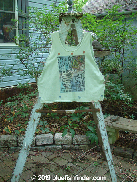 Vintage Blue Fish Clothing 1992 Workout Tank Elements Cucumber OSFA- Bluefishfinder.com