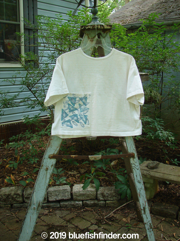 Vintage Blue Fish Clothing 1986 Workmans Pocket T White OSFA- Bluefishfinder.com