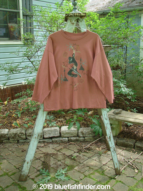 Vintage Blue Fish Clothing 1994 Long Sleeved Tee Modern Dancer Gourd Size 1- Bluefishfinder.com
