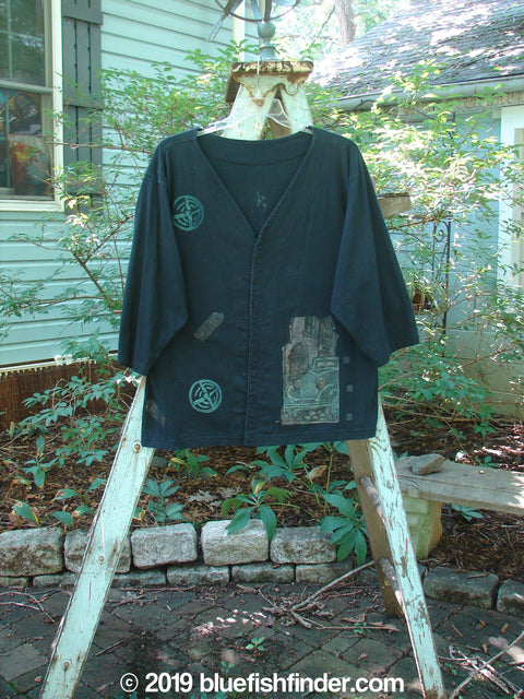 Vintage Blue Fish Clothing 1993 Resort PJ Top Antique Train Black Size 1- Bluefishfinder.com