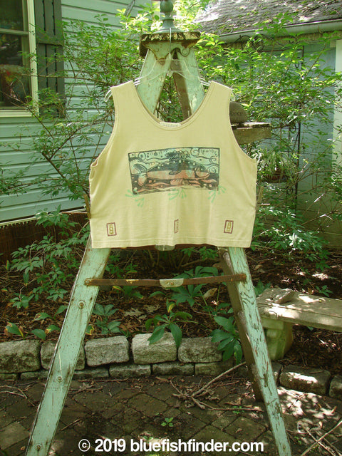 Vintage Blue Fish Clothing 1996 Crop Tank Top Fish Dune Size 2- Bluefishfinder.com
