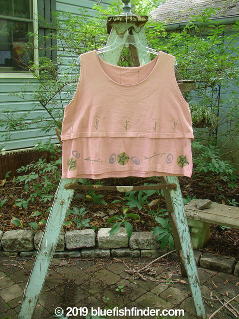 Vintage Blue Fish Clothing 1993 Parallel Top Twig Ash Pink OSFA- Bluefishfinder.com