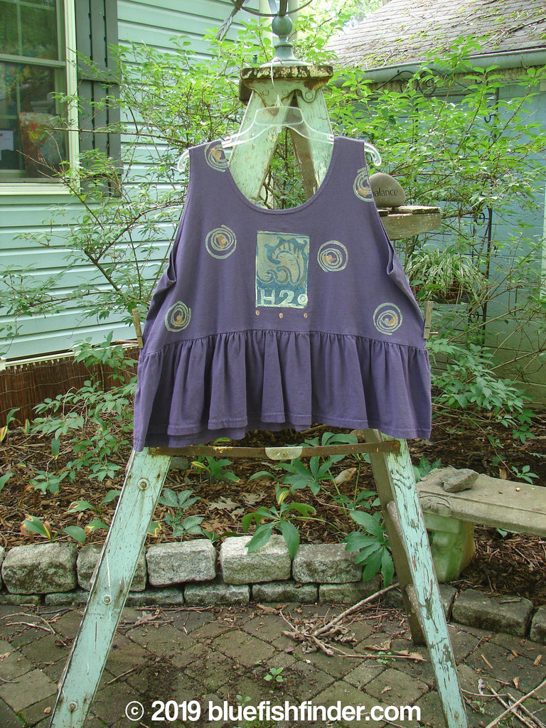 Vintage Blue Fish Clothing 1992 Peplum Top Spinner Deep Violet OSFA- Bluefishfinder.com