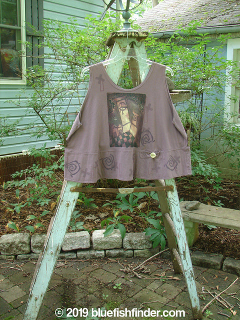 Vintage Blue Fish Clothing 1995 Klee Button Top Cathedral Madder Lake Size 2- Bluefishfinder.com