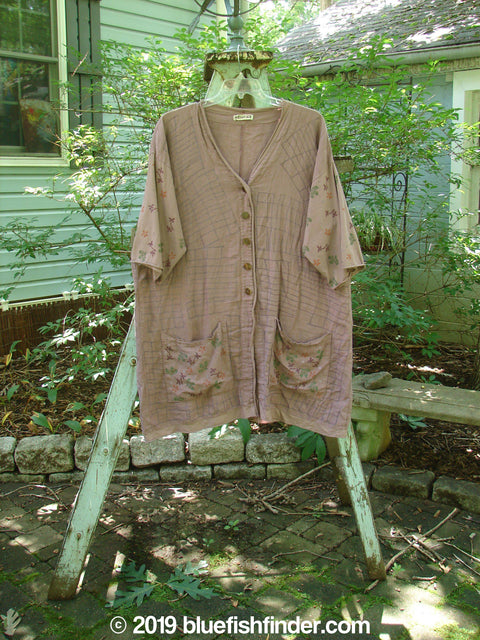 Vintage Blue Fish Clothing Barclay Cotton Sleeve Pocket Cardigan Rich Mauve Size 0- Bluefishfinder.com
