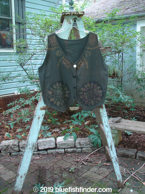 Vintage Blue Fish Clothing 1992 The Vest Metallic Pinwheels Black Sand Size 1- Bluefishfinder.com