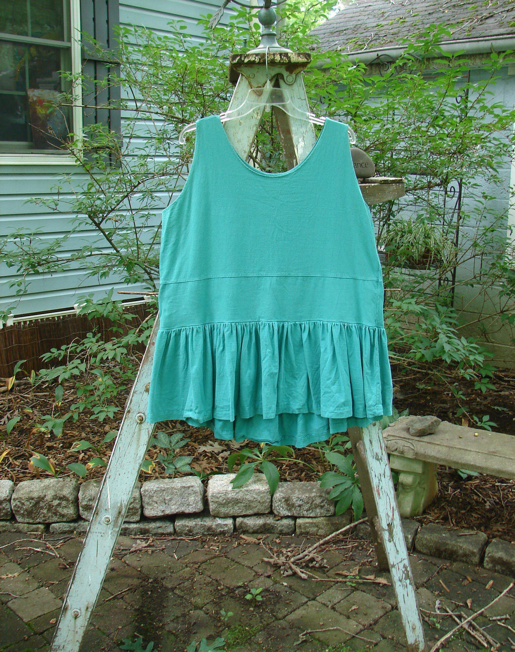 Vintage Blue Fish Clothing 1990 Button Tier Top Turq OSFA- Bluefishfinder.com