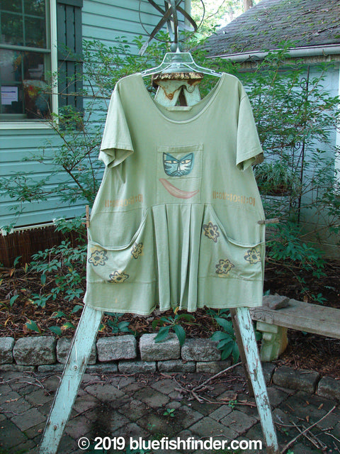 Vintage Blue Fish Clothing 1995 Blumenbeet Dress Kitty Kitty Marsh Size 1- Bluefishfinder.com