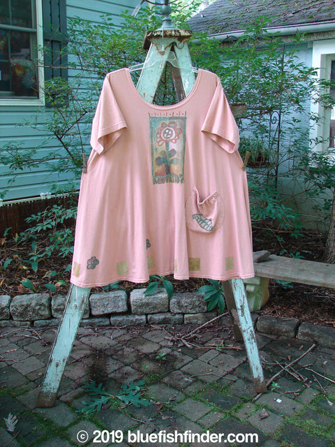 Vintage Blue Fish Clothing 1995 Hop Scotch Dress Single Potted Flower Damask Size 2- Bluefishfinder.com