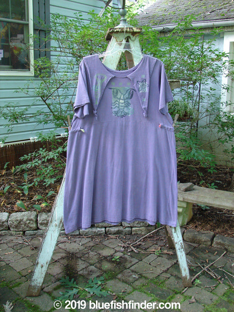 Vintage Blue Fish Clothing 1994 Elfin Dress Lobster Purple Nuit Size 2- Bluefishfinder.com