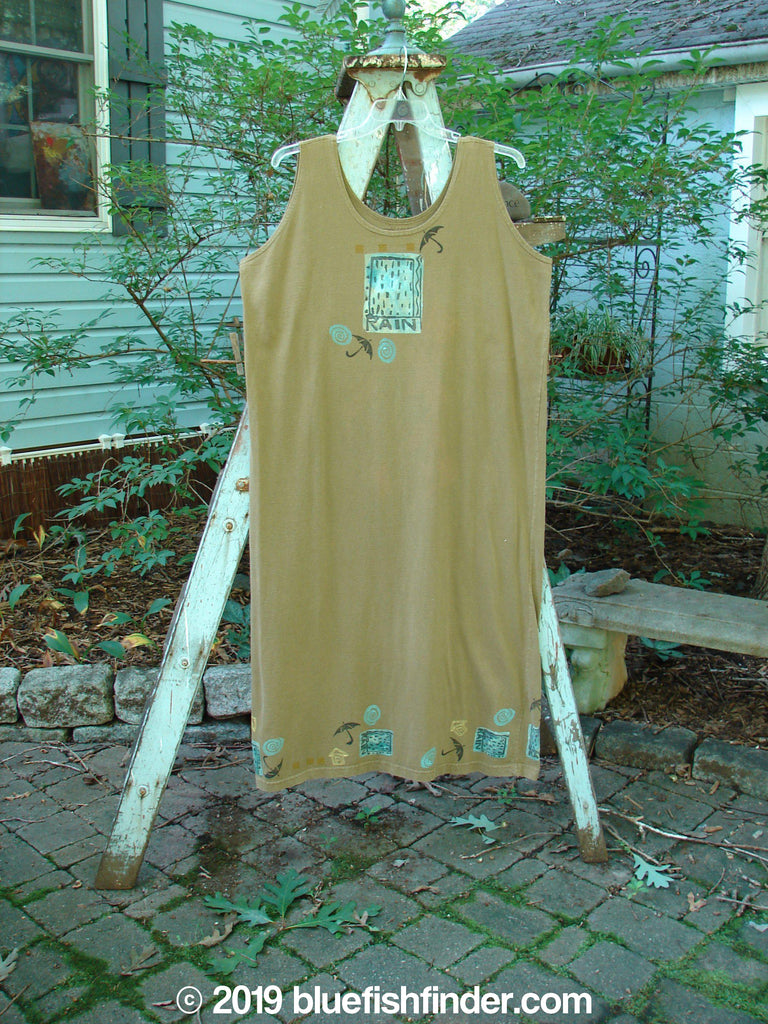 Vintage Blue Fish Clothing 1992 Tank Dress Rain Rosemary OSFA- Bluefishfinder.com