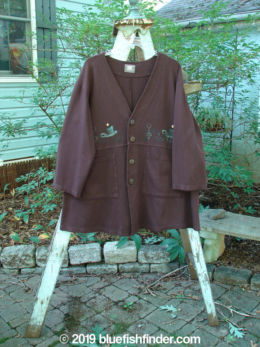 Vintage Blue Fish Clothing 1999 Steller Jacket Candle Deep Burgundy Size 1- Bluefishfinder.com