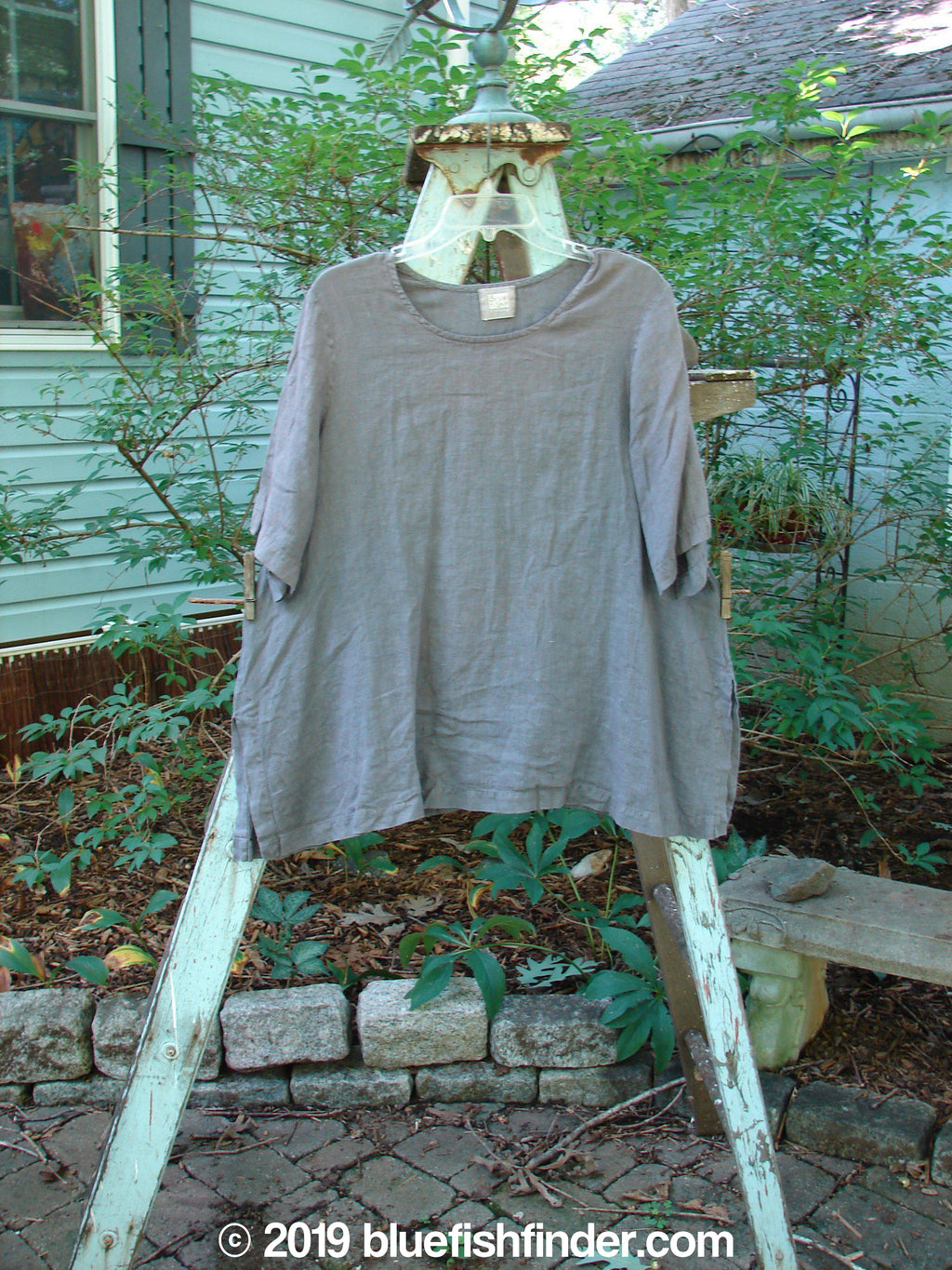Vintage Blue Fish Clothing 1999 Linen Tea Top Raven Size 1- Bluefishfinder.com