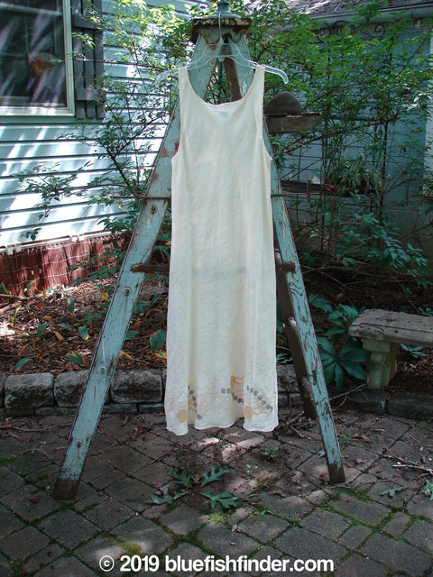 Vintage Blue Fish Clothing 2000 Resort Hemp Silk Slip Parchment Tiny Size 1- Bluefishfinder.com