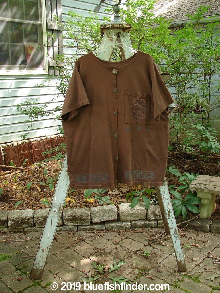 Vintage Blue Fish Clothing 1993 Camp Shirt Wheat Wind Cappuccino Size 2- Bluefishfinder.com