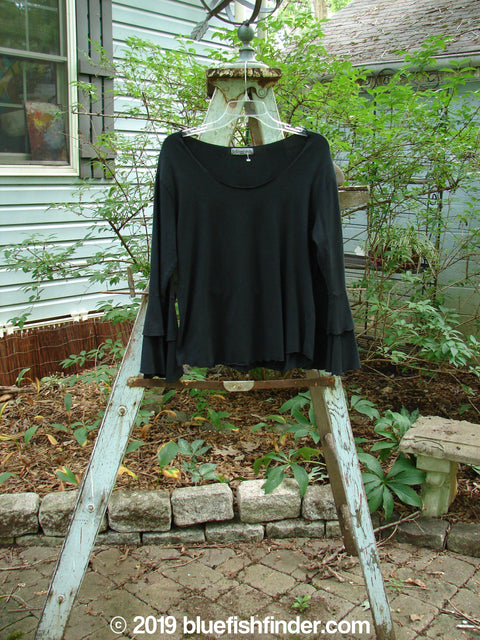 Vintage Blue Fish Clothing Barclay Long Sleeved Petal Top Black Size 0- Bluefishfinder.com