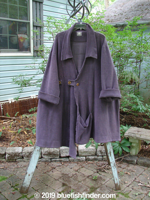 Vintage Blue Fish Clothing 2000 Celtic Moss Highlander Coat Aubergine Size 1- Bluefishfinder.com