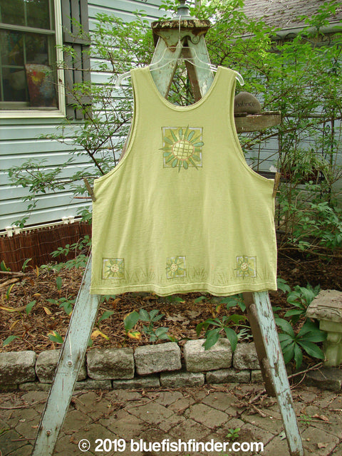 Vintage Blue Fish Clothing 1999 Tank Top Center Sun Kelp Size 1- Bluefishfinder.com