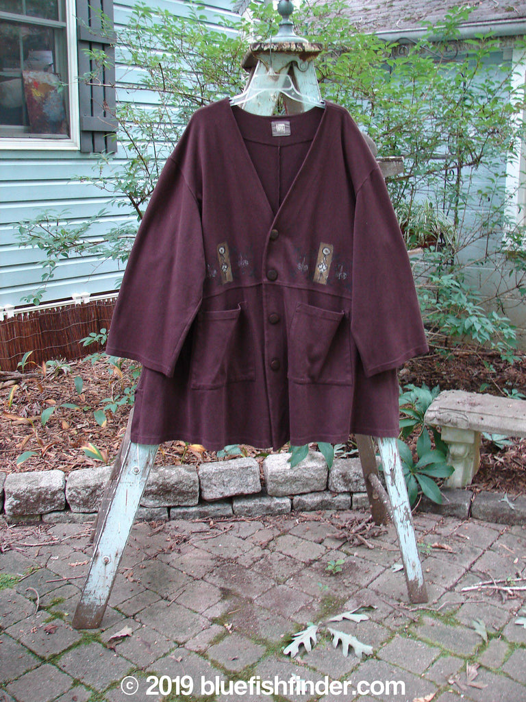 Vintage Blue Fish Clothing 1999 Interlock Steller Jacket Celtic Deep Burgundy Size 2- Bluefishfinder.com