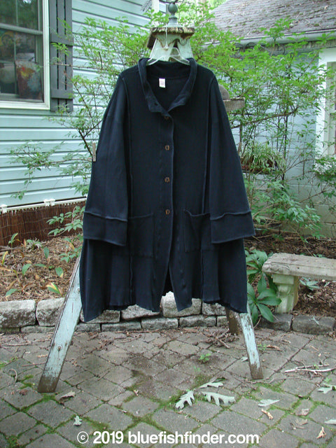 Vintage Blue Fish Clothing Barclay Thermal Mock Collar Coat Black Size 1- Bluefishfinder.com