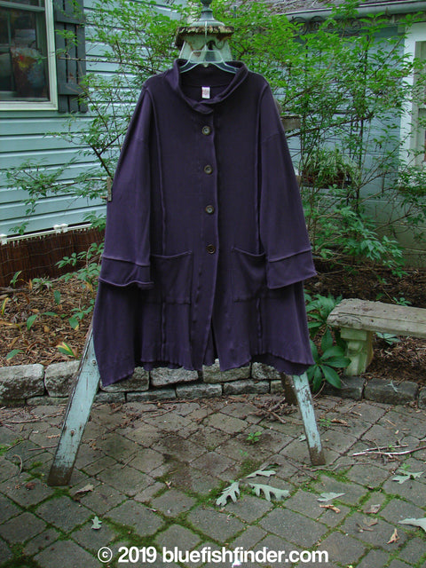 Vintage Blue Fish Clothing Barclay Thermal Mock Collar Coat Plum Size 1- Bluefishfinder.com