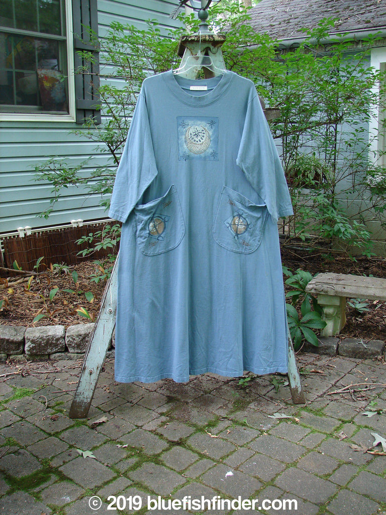 Vintage Blue Fish Clothing 1997 Persian Dress Moon Peacock Size 2- Bluefishfinder.com