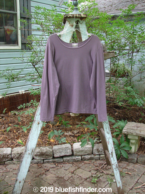 Vintage Blue Fish Clothing 2000 Cotton Lycra Long Sleeved Layering Tee Aubergine Size 2- Bluefishfinder.com