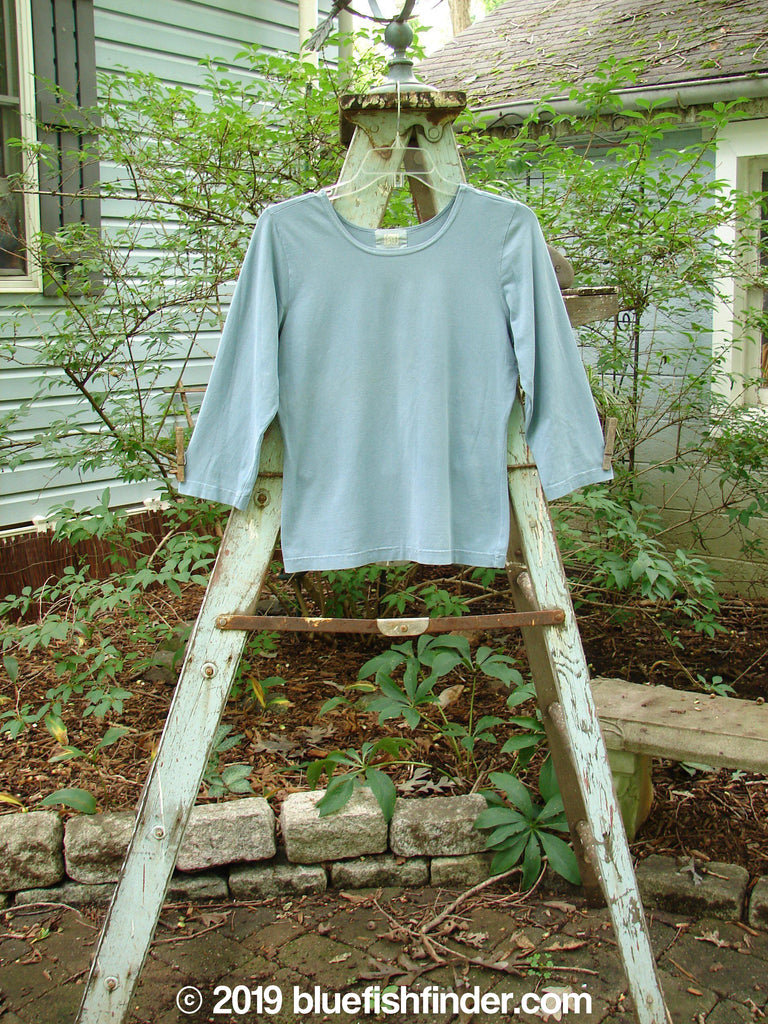 Vintage Blue Fish Clothing 2000 Cotton Lycra Three Quarter Layering Tee Puddle Size 1- Bluefishfinder.com
