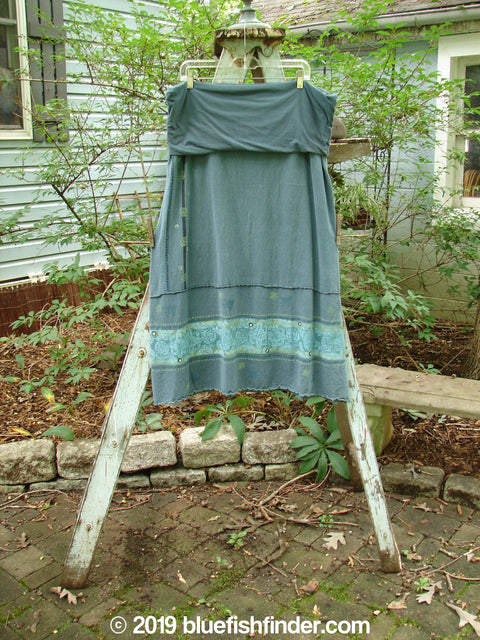 Vintage Blue Fish Clothing Barclay Decora Fold Over Skirt Garden Night Storm Size 2- Bluefishfinder.com