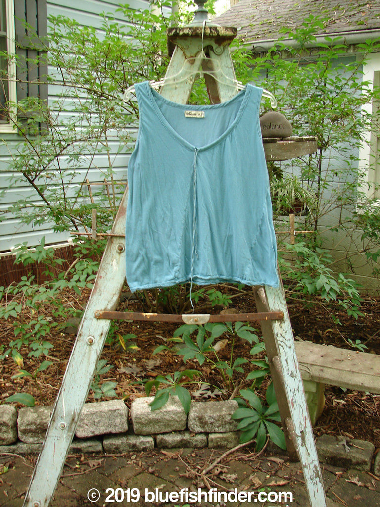 Vintage Blue Fish Clothing Barclay Batiste Decora Tiny Tank Aqua Size 1- Bluefishfinder.com