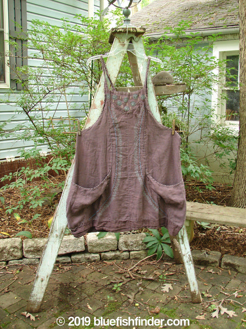Vintage Blue Fish Clothing Barclay Pleat Apron Infinity Plum Size 1- Bluefishfinder.com