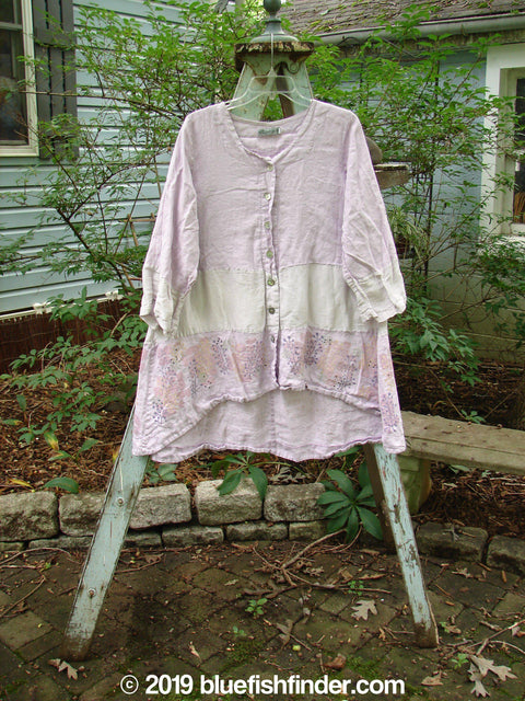 Vintage Blue Fish Clothing Barclay Wonderland Sectional Banded Cardigan Lilac Size 1- Bluefishfinder.com
