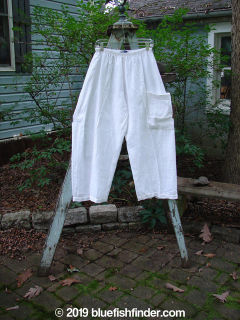 Vintage Blue Fish Clothing Barclay Linen Side Pocket Pant White Size 0- Bluefishfinder.com