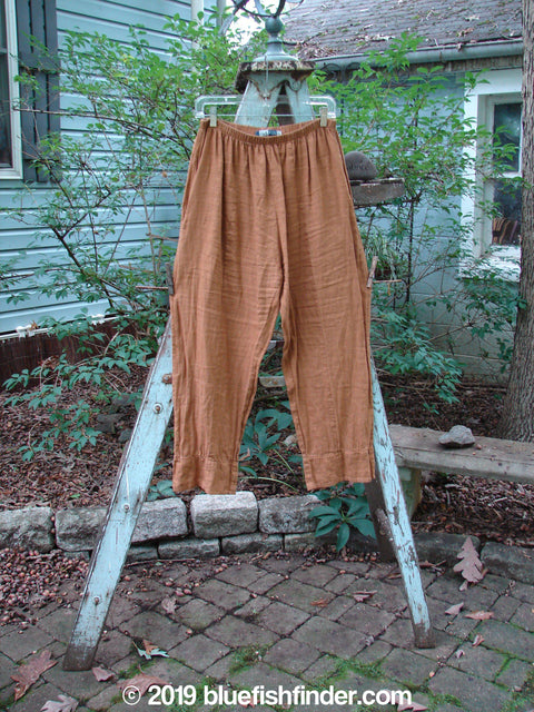 Vintage Blue Fish Clothing Barclay Linen Bottom Panel Pant Copper Size 0- Bluefishfinder.com