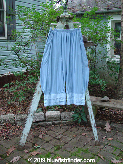 Vintage Blue Fish Clothing Barclay Crop Wave Bottom Triple Flare Pant Cornflower Size 0- Bluefishfinder.com