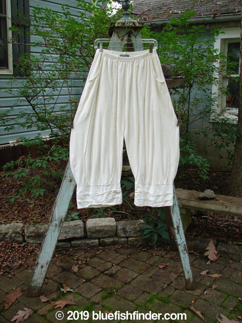 Vintage Blue Fish Clothing Barclay Crop Wave Bottom Triple Flare Pant Creme Size 0- Bluefishfinder.com